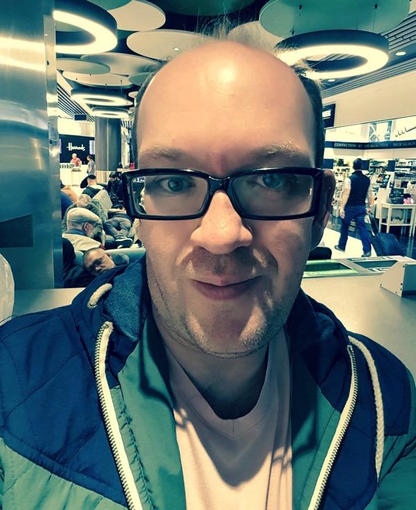 Dan J at Heathrow